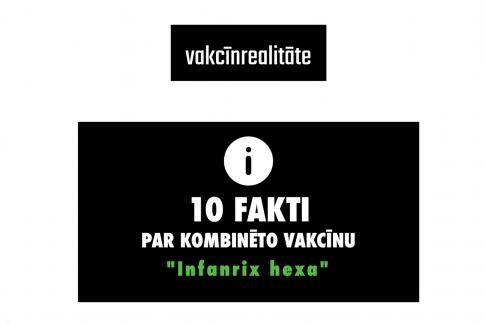 Vakcīnrealitāte 10 fakti par infanrix hexa vakcīnu